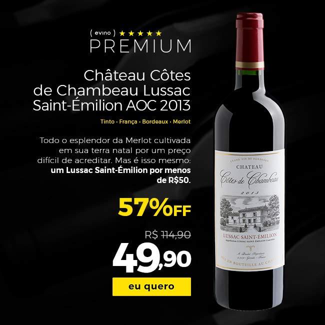 Chateau Cotes de Chambeau Lussac-St Emilion 2013
